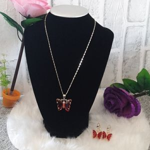 BEAUTIFUL RED BUTTERFLY SET